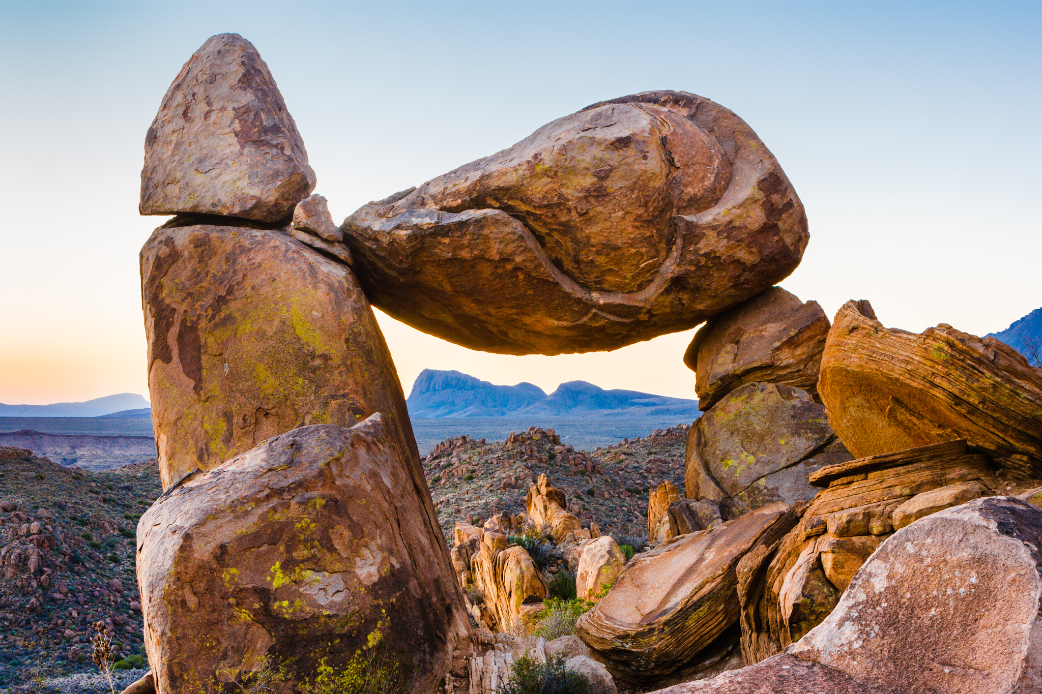 Balanced Rock in Big Bend