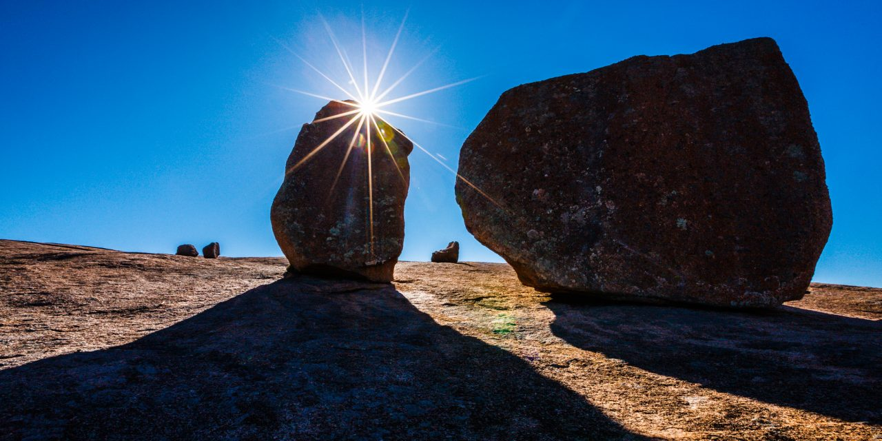 Enchanted Rock Sunburst