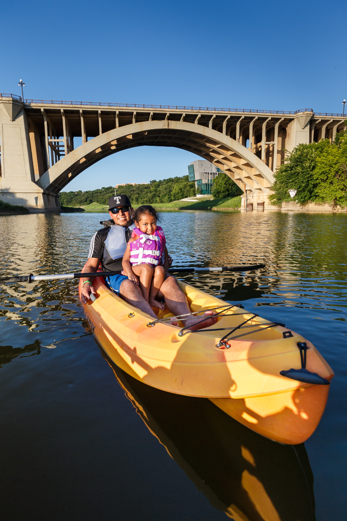 Father and Daughter in Kayak